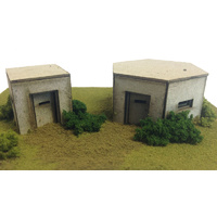 Metcalfe HO Pillboxes (2) Card Kit