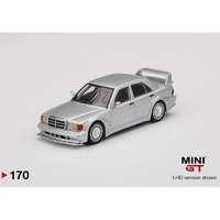 Mini GT 1/64 Mercedes-Benz 190E 2.5-16 Evolution II DTM Silver Model Car
