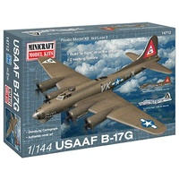 "Minicraft 1/144 B-17G USAF ""Mercy's Madhouse"" with 2 marking options Plastic Model Kit 14712"