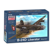 Minicraft 1/144 B-24D Liberator with 2 marking options USAAF 8th AF Plastic Model Kit 14735