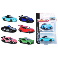 Majorette 1/64 Porsche Premium Cars (6 Assorted Designs) H/S