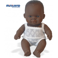 Miniland Anatomically Correct Baby Doll African Boy 21cm