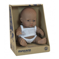 Miniland Anatomically Correct Baby Doll Hispanic Boy 21cm