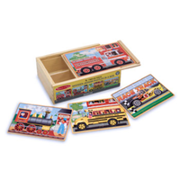 Melissa & Doug Vehicles Jigsaw Puzzles In a Box MND3794