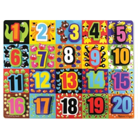 Melissa and Doug Jumbo Numbers Chunky Puzzle (20pc) MND3832