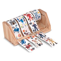Melissa & Doug Wooden Sticker Rolls Set - Boy MND4275