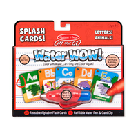 M&D Water WOW! Splash Cards Letters