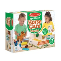 Melissa & Doug - Feed & Groom Horse Care Play Set