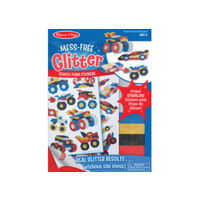 Melissa & Doug Mess Free Glitter- Vehicle Foam Stickers MND9251