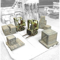 Miniature Scenery - Mini Forklifts with crates