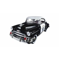Motormax 1/18 Police 1950 Chevy Belair (Timeless Classics) 79007 Diecast