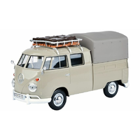 Motormax 1/24 VW Type 2 (T1) Pickup with Roof Rack-Suit Case-Tarp 79553 Diecast