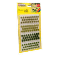 Noch Grass Tufts light and dark green, 104 pieces, 6?mm N07127