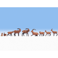 Noch HO Alpine Animals (9 figures) N15742