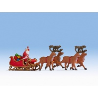 Noch HO Santa Claus with Sleigh