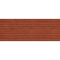 "Noch HO 3D Cardboard Sheet ""Roof Tile"" Red"