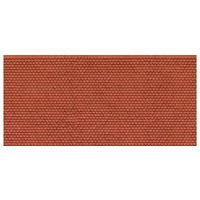 "Noch HO 3D Cardboard Sheet ""Plain Tile"" Red"