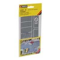 Noch HO Parking Places & Meters 20 x 10cm 4 meters N60550