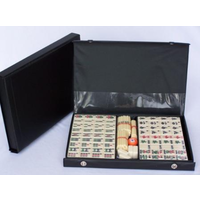 Mahjong Set Black Vinyl Case With Counting Sticks 32cm O1040EA