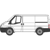 Oxford OO Frozen White Ford Transit Mkv SWB Low Roof 76FT036