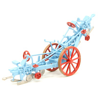 Oxford 1/76 Fowler Plough Blue and Red