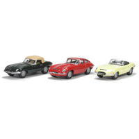 Oxford 1/76 Jaguar E Type Triple Set