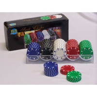 Casino Chips & Accessories - Poker Chip 100pc Suit Style P1089PC