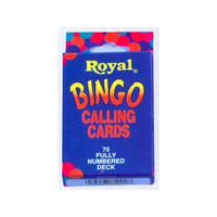 Royal Bingo Calling Cards - 75 Fully Numbered Deck PC220864