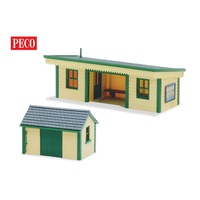 Peco HO Platform Shelter Timber