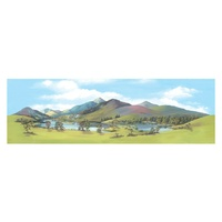 Peco HO Backscene Mountain Lake 228mm x 736mm