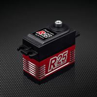 Power HD R25 Standard Coreless Motor Titanium & Aluminium Gear Servo