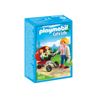 Playmobil - Mother with Twin Stroller 5573