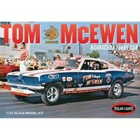 "Polar Lights 953 1/25 Tom ""Mongoose"" McEwen 1969 Barracuda Funny Car Plastic Model Kits POL"