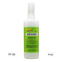 Zap-A-Gap 4oz Cyanoacrylic (Green) PT05