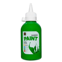 Educational Colours 250ml Rainbow Paint - Leaf Green R250LFGR