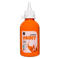 Educational Colours 250ml Rainbow Paint - Orange R250OR
