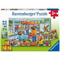 Ravensburger - 2x12pc Let's go Shopping Jigsaw Puzzle