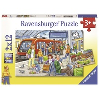 Ravensburger - 2x12pc Please get In! Jigsaw Puzzle 07611-6