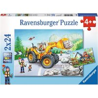Ravensburger - 2x24pc Diggers at Work Jigsaw Puzzle 07802-8