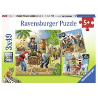 Ravensburger - 3x49pc Adventure on the High Seas Jigsaw Puzzle 08030-4