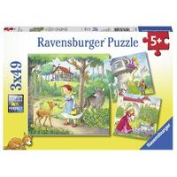 Ravensburger - 3x49pc Rapunzel, Riding Hood and Frog Jigsaw Puzzle 08051-9