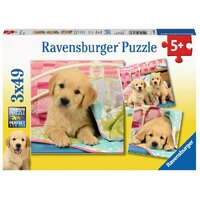 Ravensburger - 3x49pc Cute Puppy Dogs Jigsaw Puzzle 08065-6