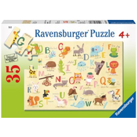Ravensburger - 35pc A-Z Animals Jigsaw Puzzle 08761-7