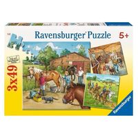Ravensburger - 3x49pc A Day with Horses Jigsaw Puzzle 09237-6