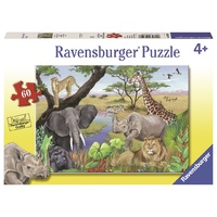 Ravensburger - 60pc Safari Animals Jigsaw Puzzle 09600-8
