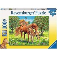 Ravensburger - 100pc Horses in the Field Jigsaw Puzzle 10577-9