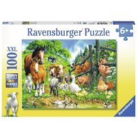 Ravensburger - 100pc Animal Get Together Jigsaw Puzzle 10689-9