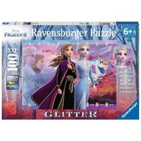 Ravensburger - 100pc Frozen 2 Strong Sisters GLITTER Jigsaw Puzzle 12868-6