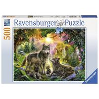 Ravensburger - 500pc Wolf Family in Sunshine Jigsaw Puzzle 14745-8