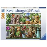 Ravensburger - 500pc Cats on the Shelf Jigsaw Puzzle 14824-0
